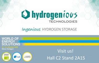Sign of Hydrogenious Technologies at the WORLD OF ENERGY SOLUTIONS fair